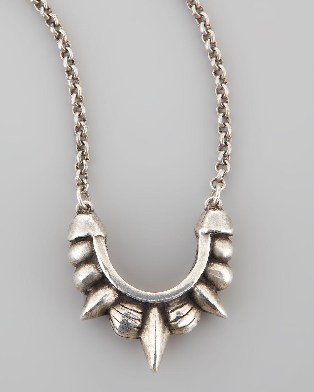 Pamela Love Womens Small Spike Pendant Necklace HGZNXG