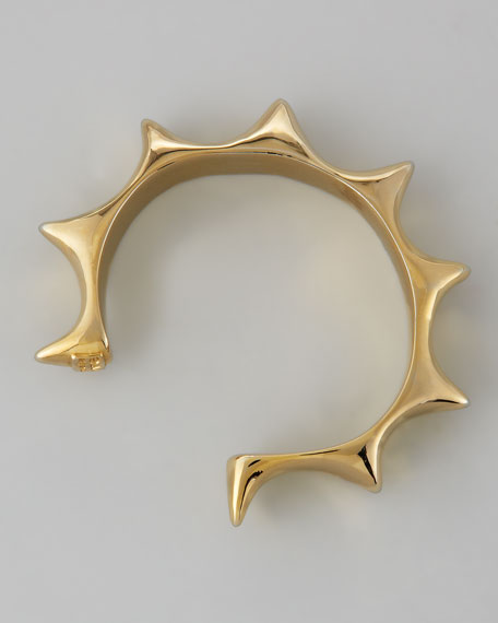 Sun Cuff, Yellow Gold-Plate
