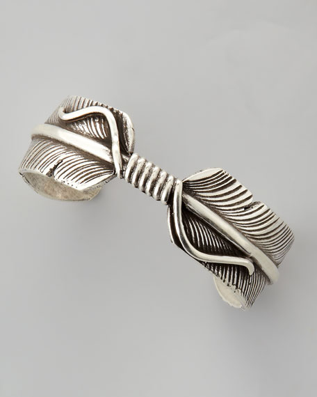 Feather Cuff, Silver-Plate