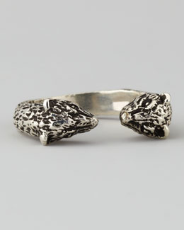 Pamela Love Small Bear Ring, Silver