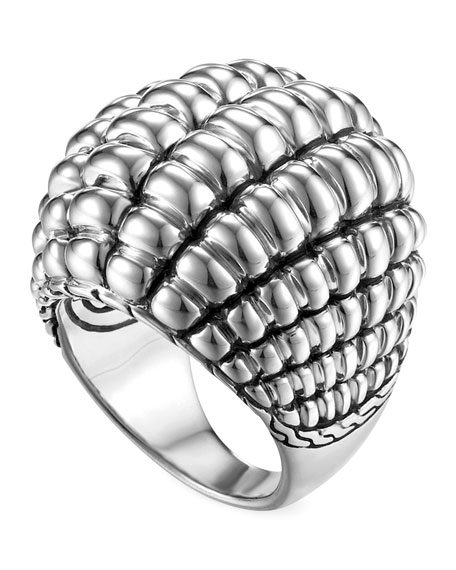Bedeg Silver Large Dome Ring