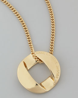 MARC by Marc Jacobs Cable Link-Pendant Necklace, Yellow Golden