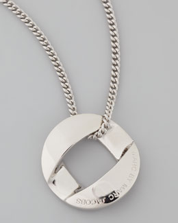 MARC by Marc Jacobs Cable Link-Pendant Necklace, Silvertone