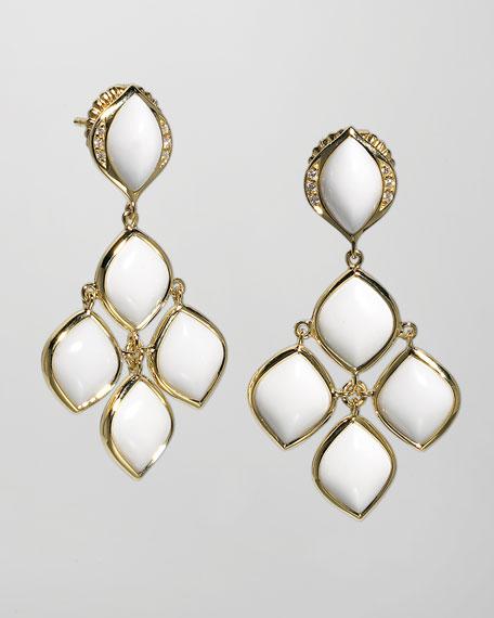 Simone 18k Gold Agate Chandelier Earrings