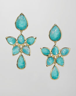 Elizabeth Showers 18k Gold Amazonite Drop Earrings