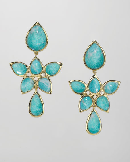 18k Gold Amazonite Drop Earrings