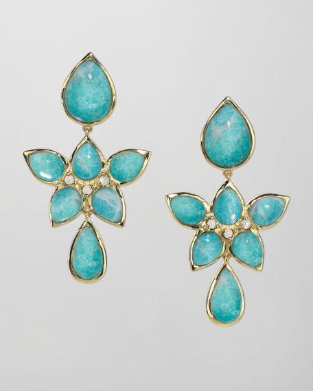 18k Gold Amazonite Drop Earrings