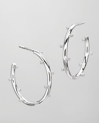 Elizabeth Showers Small Classic Ball Hoop Earrings