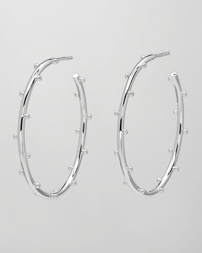 Elizabeth Showers Medium Classic Ball Hoop Earrings