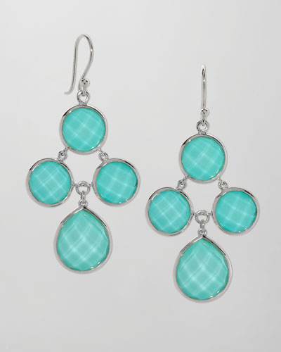 Elizabeth Showers Audrey Turquoise Chandelier Earrings