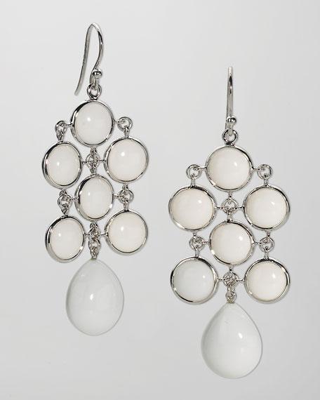Juliette Chandelier Earrings, White Agate