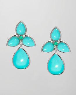 Elizabeth Showers Mariposa Drop Earrings, Blue Turquoise