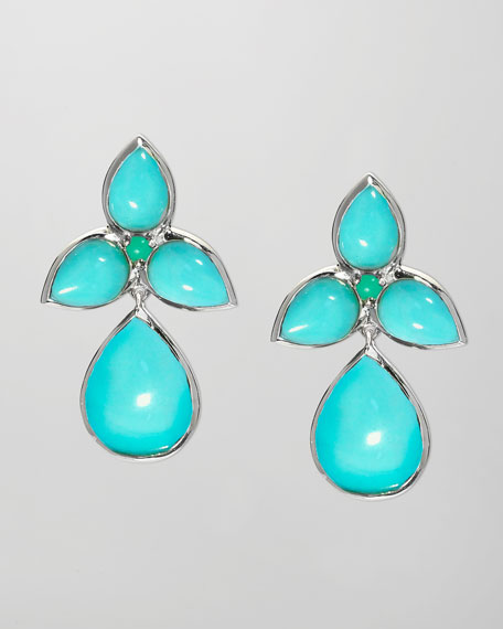Mariposa Drop Earrings, Blue Turquoise