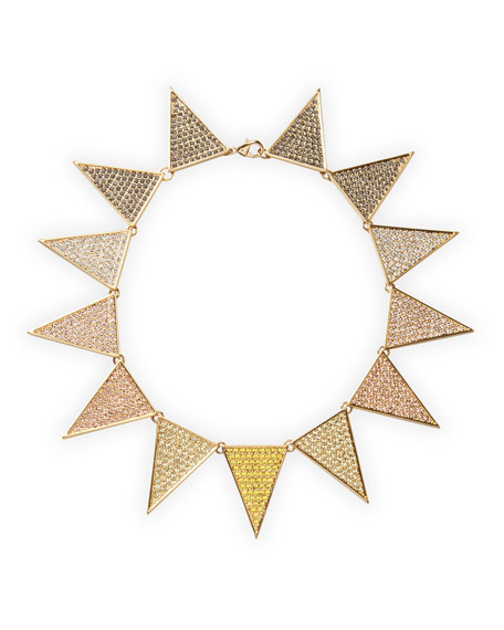 Pave Flat-Triangle Necklace