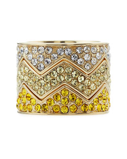 Eddie Borgo Pave Bear-Trap Stackable Ring Set, Yellow Gold