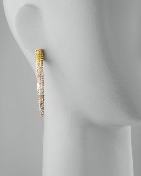 Pave Long Spike Earrings