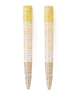 Eddie Borgo Pave Long Spike Earrings