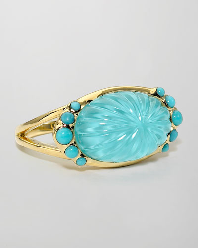 Elizabeth Showers Soleil Turquoise Carved Ring