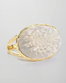 Elizabeth Showers Daphne Milky Quartz Carved Ring