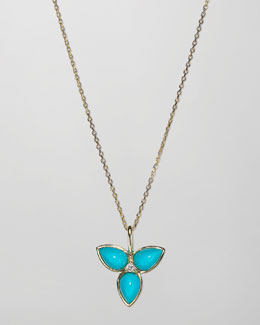 Elizabeth Showers Mariposa 18k Gold Mini Pendant Necklace