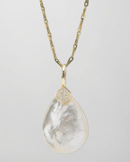 Elizabeth Showers Eliza Large Mother-of-Pearl Pendant Necklace