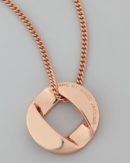 Cable Link-Pendant Necklace, Rose Golden