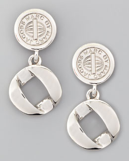 MARC by Marc Jacobs Cable Link-Drop Earrings, Silvertone