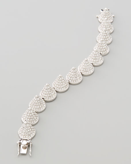 Pave Cone Bracelet, Silvertone