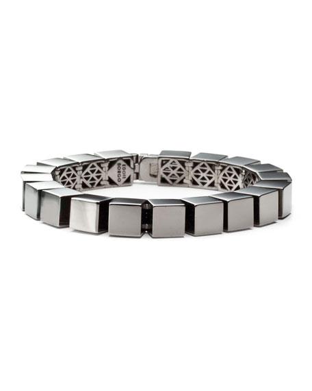 Eddie Borgo Small Cube Bracelet, Gunmetal