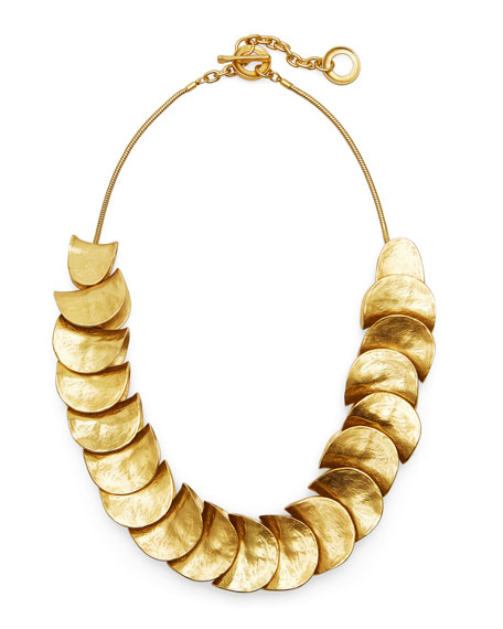 Gold-Plated Shingle Necklace