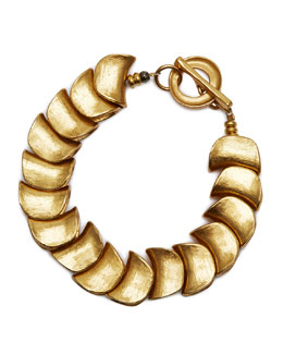 Robert Lee Morris Small Gold-Plated Shingle Bracelet