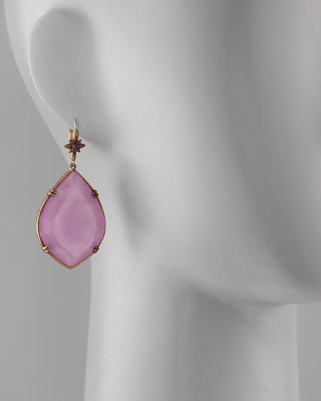 Marquise Drop Earrings, Purple