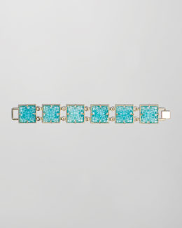 Kendra Scott Electra Faceted Bracelet, Turquoise
