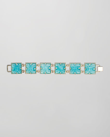 Electra Faceted Bracelet, Turquoise