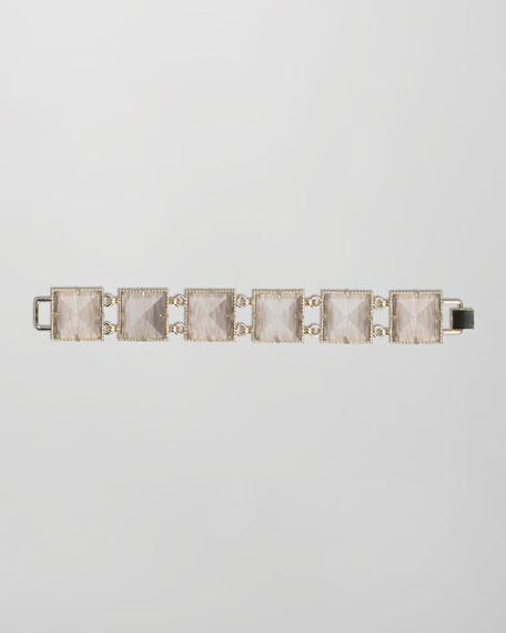 Electra Faceted Bracelet, Gray