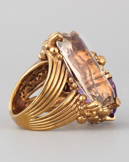 Stephen Dweck Three-Stone Ring, Purple