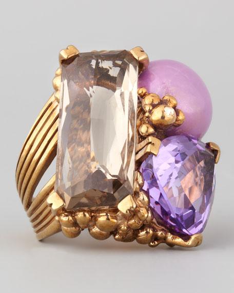 Three-Stone Ring, Purple