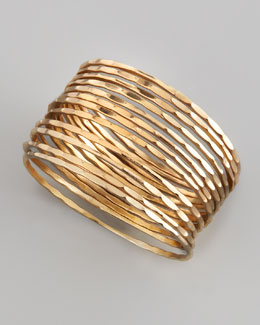 Chamak by Priya Kakkar Set of 12 Faceted Thin Bangles