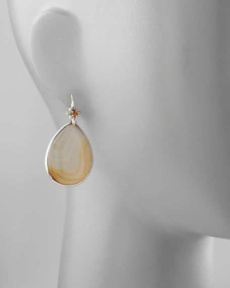 Natural Agate Teardrop Earrings