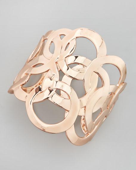 Rose Golden Circle Cuff Bracelet
