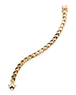 Eddie Borgo Small Pyramid Bracelet, Yellow Gold