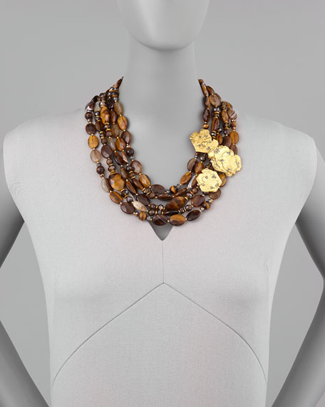 Agate & Tiger's Eye Bib Necklace