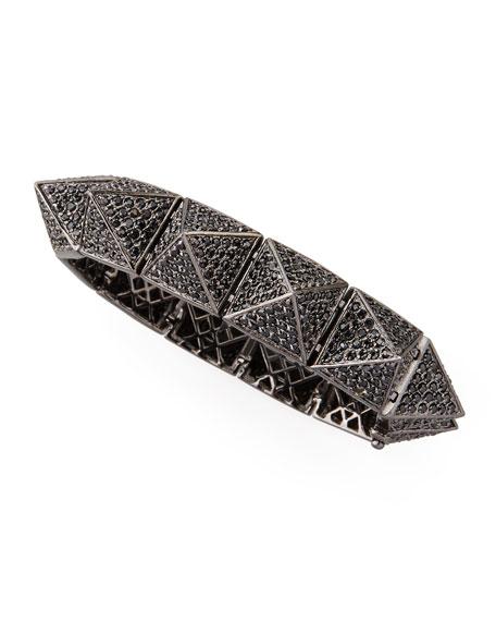 Eddie Borgo Large Pave Pyramid Bracelet, Gunmetal