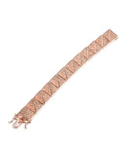 Eddie Borgo Large Pave Pyramid Bracelet, Rose Gold