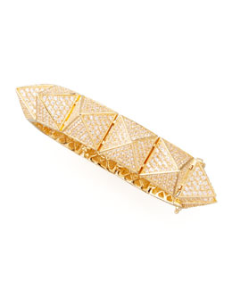 Eddie Borgo Large Pave Pyramid Bracelet, Yellow Gold