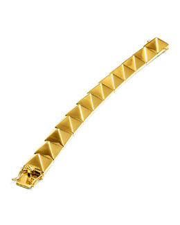 Eddie Borgo Large Pyramid Bracelet, Yellow Gold