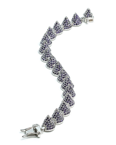 Small Pave Cone Bracelet, Amethyst