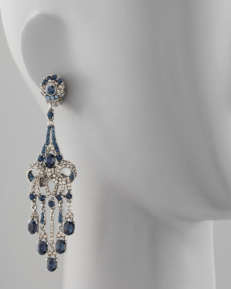Crystal-Encrusted Teardrop Earrings