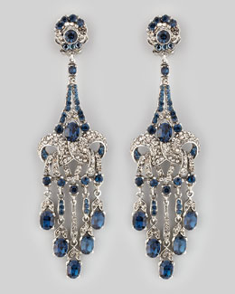 Jose & Maria Barrera Crystal-Encrusted Teardrop Earrings