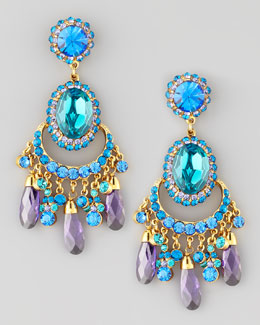 Jose & Maria Barrera Zircon/Purple Chandelier Earring